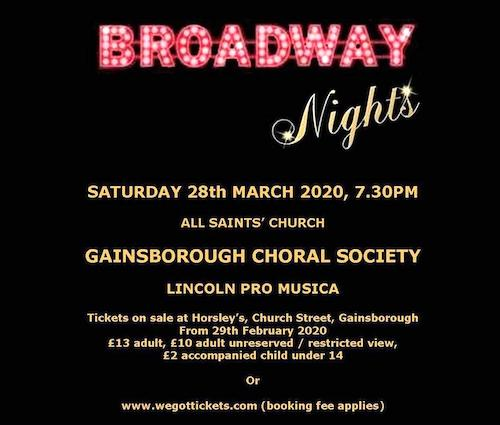 Broadway Nights - Saturday 28th March 2020
