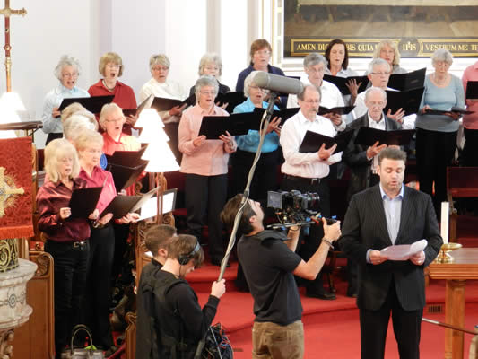 Joseph Calleja singing with Gainsborough Choral Society